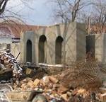 Начало сооружения мемориальной стены
