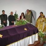 Панихида у гробницы Великой княгини Александры Павловны