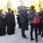 Открытие мемориала на месте захоронения советских воинов