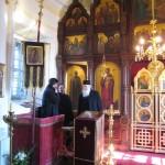 Иремский храм посетил наместник сербского монастыря архимандрит Досифей
