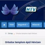 Репортаж телевидения Хевиза о торжественном начале строительства православного храма