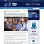 Новостной репортаж Хевизского телевидения о строительстве православного храма