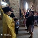 Первое крещение в храме во имя иконы Божией Матери «Живоносный Источник» в Хевизе